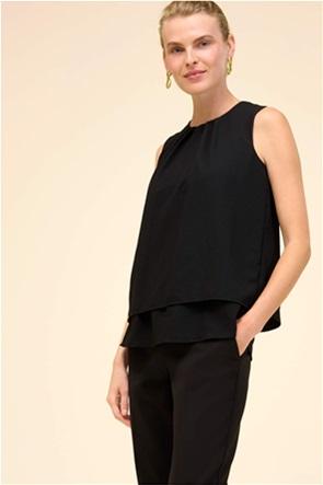 Orsay γυναικεία μπλούζα αμάνικη με στρογγυλή λαιμόκοψη