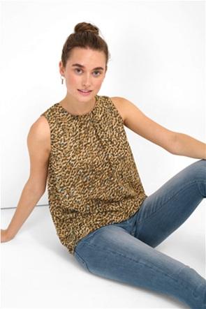 Orsay γυναικεία μπλούζα αμάνικη με all-over animal print