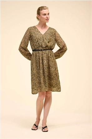 Orsay γυναικείο mini φόρεμα με all-over print και ζώνη στη μέση