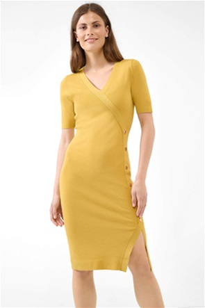 Orsay γυναικείο midi φόρεμα κρουαζέ με διακοσμητικά κουμπιά