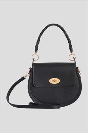 Orsay γυναικεία τσάντα ώμου με leather look και λαβή με πλεκτό σχέδιο