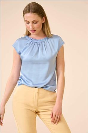 Orsay γυναικεία μπλούζα σατινέ με διακοσμητικές πιέτες
