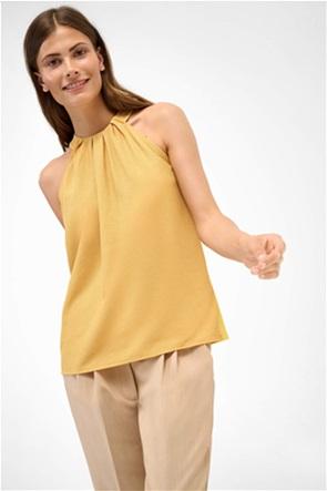 Orsay γυναικεία μπλούζα αμάνικη με διακοσμητικές σούρες