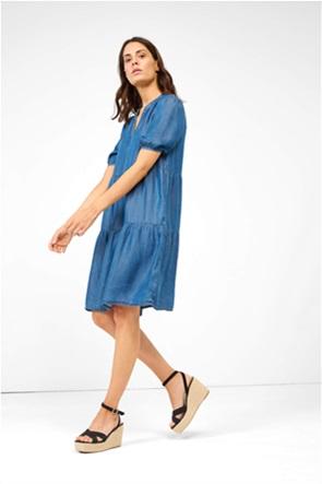 Orsay γυναικείο mini φόρεμα denim με puff μανίκια