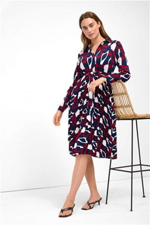 Orsay γυναικείο midi φόρεμα σεμιζιέ με ζώνη