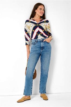 Orsay γυναικείο τζην παντελόνι ψηλόμεσο με ανοίγματα Straight Fit