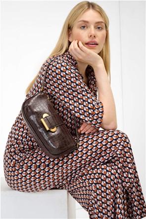 Orsay γυναικεία τσάντα ώμου με crocro σχέδιο