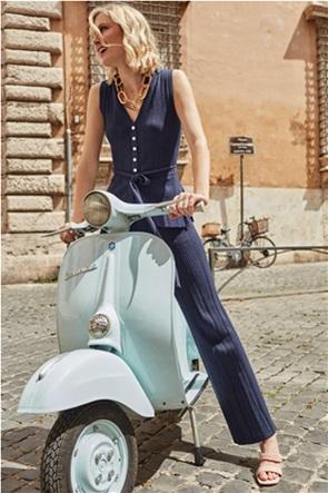 Orsay γυναικεία πλεκτή μπλούζα αμάνικη με κουμπιά