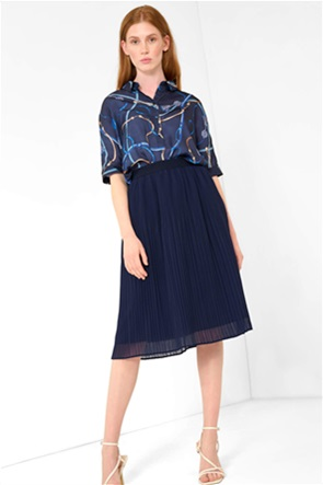 Orsay γυναικεία φούστα πλισέ μονόχρωμη