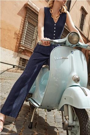 Orsay γυναικείo παντελόνι ribbed μονόχρωμο