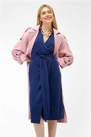 Orsay γυναικείο mini φόρεμα με κρουαζέ μονόχρωμο