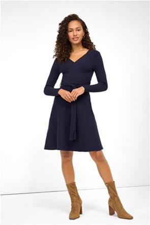 Orsay γυναικείo πλεκτό φόρεμα με ζώνη