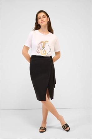 Orsay γυναικεία pencil φούστα με κρουαζέ σχέδιο