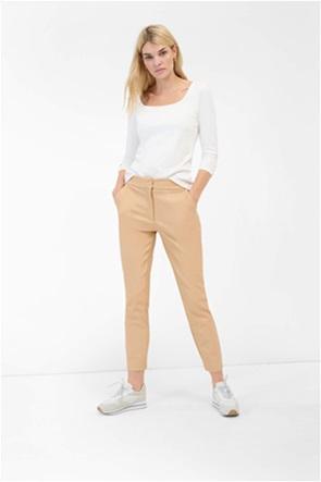 Orsay γυναικείο παντελόνι μονόχρωμο faux leather