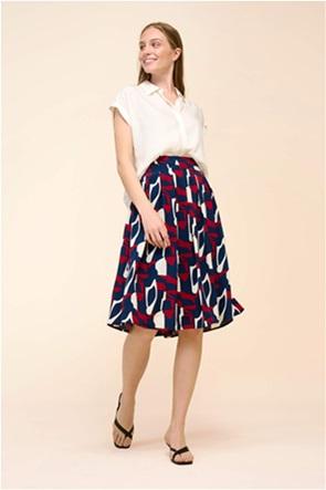 Orsay γυναικεία midi φούστα με all-over print
