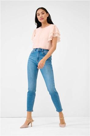 Orsay γυναικείο τζην παντελόνι ψηλόμεσο cropped Slim Fit