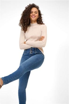 Orsay γυναικείο τζην παντελόνι ψηλόμεσο με κουμπιά