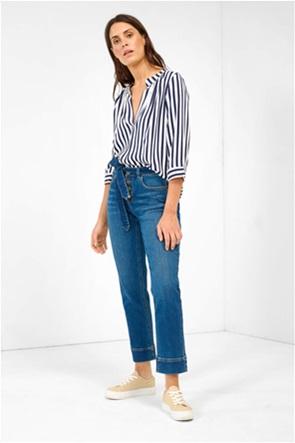 Orsay γυναικείο τζην παντελόνι με κουμπιά Straight Fit