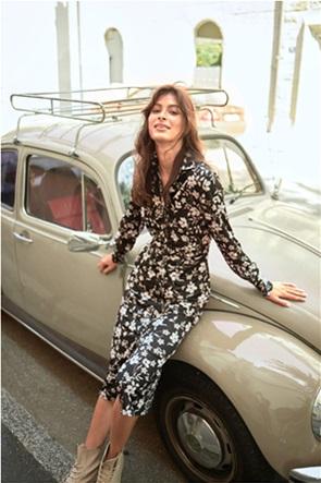 Orsay γυναικείο φόρεμα σεμιζιέ με floral print