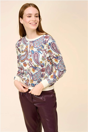 Orsay γυναικεία φούτερ μπλούζα με all-over paisley print