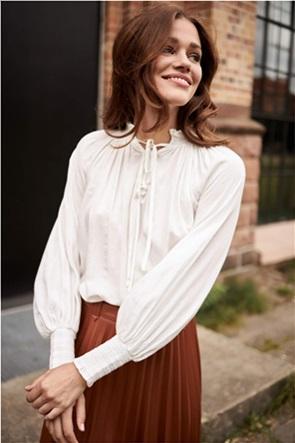 Orsay γυναικεία μπλούζα μονόχρωμη με balloon μανίκια