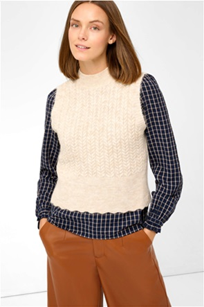 Orsay γυναικεία πλεκτή μπλούζα αμάνικη