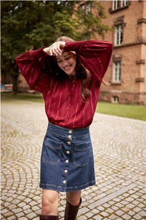 Orsay γυναικεία mini φούστα denim με μεταλλικά κουμπιά