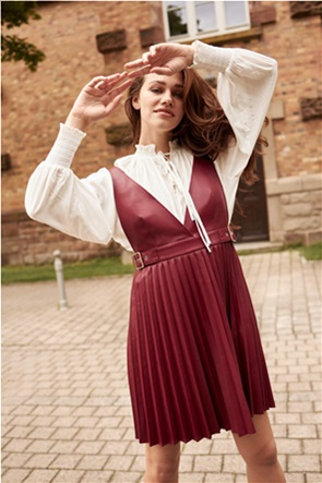 Orsay γυναικείο mini φόρεμα faux leather