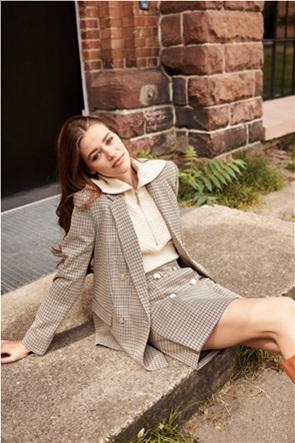 Orsay γυναικείο σακάκι με καρό σχέδιο