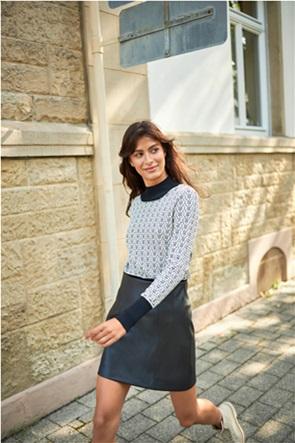 Orsay γυναικεία mini φούστα faux leather ψηλόμεση