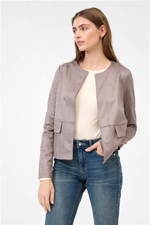 Orsay γυναικείο καρό σακάκι με flap τσέπες