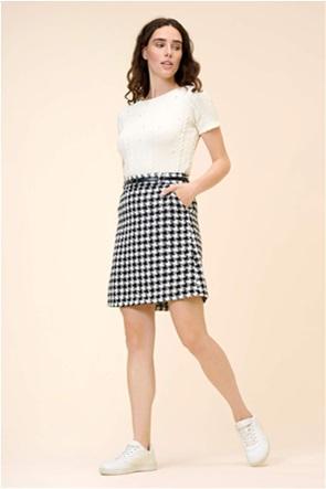 Orsay γυναικεία mini φούστα με καρό σχέδιο και ζώνη στη μέση
