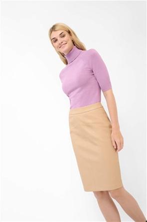 Orsay γυναικεία μπλούζα ζιβάγκο πλεκτή μονόχρωμη