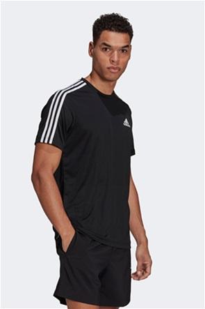 "Adidas ανδρικό αθλητικό T-shirt με logo print """"AEROREADY 3-Stripes"""