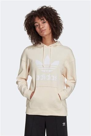 "Adidas γυναικεία μπλούζα φούτερ με κουκούλα και logo print ""Adicolor Trefoil"""