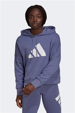 "Adidas γυναικεία μπλούζα φούτερ με κουκούλα ""Future Icons"""