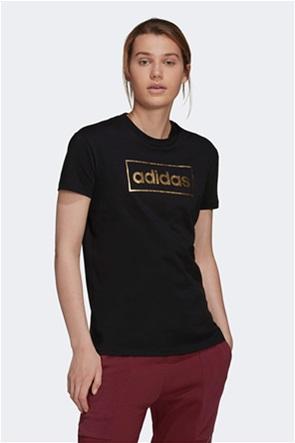 Adidas γυναικείο T-shirt με metallic logo
