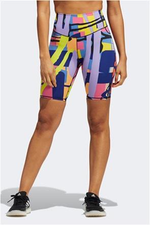 "Adidas γυναικείο ποδηλατικό κολάν all-over graphic print ""Love Unites"""
