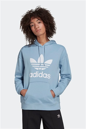 "Adidas γυναικεία μπλούζα φούτερ με logo print ""Trefoil Adicolor"""