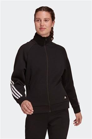 Adidas γυναικεία φούτερ ζακέτα με ψηλό λαιμό '''Future Icons 3 Stripes''