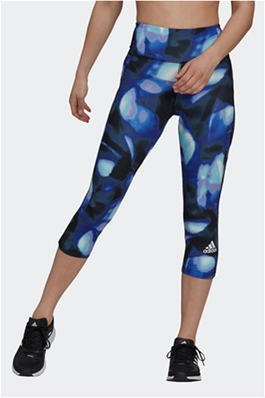 Adidas γυναικείο κολάν με all-over print cropped ''Feel Brilliant Aeroready You For You''