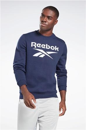 Reebok ανδρική μπλούζα φούτερ με logo print