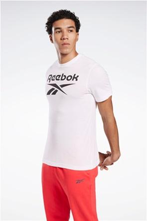 "Reebok ανδρικό T-shirt με logo print ""Stacked Tee"""