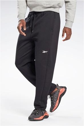 "Reebok ανδρικό παντελόνι φόρμας μονόχρωμο με κεντημένο λογότυπο 'DreamBlend Cotton Track"""