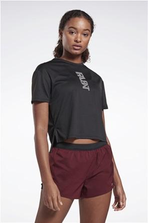 Reebok γυναικείο αθλητικό T-shirt με letter print ''Run Essentials''