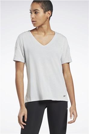 Reebok γυναικείο Τ-shirt με V λαιμόκοψη