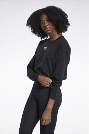 Reebok γυναικεία μπλούζα φούτερ cropped