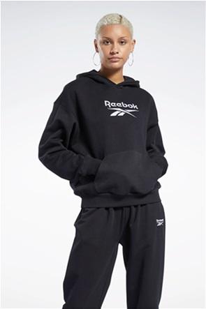 "Reebok γυναικεία μπλούζα φούτερ μονόχρωμη με logo print ""Classics"""
