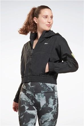 "Reebok γυναικείo αθηλτικό μπουφάν cropped με κεντημένο λογότυπο ""MYT"""