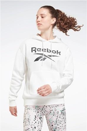 """Reebok γυναικεία μπλούζα φούτερ με κουκούλα και logo print """"Identity"""""""
